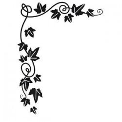Ембосинг папка с бръшлян - Embossing template 10,8x14,6cm ivy corner