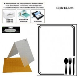 Ембосинг папка - Embossing template 10,8x14,6cm cutlery