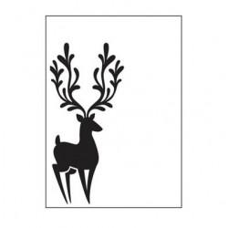 Ембосинг папка с елен - Embossing template 10,8x14,6cm reindeer in corner