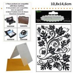 Ембосинг папка падащи листа - Embossing template 10,8x14,6cm fall leaf