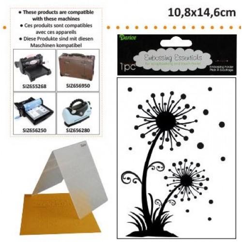 Ембосинг папка - глухарче - Embossing template 10,8x14,6cm dandylion