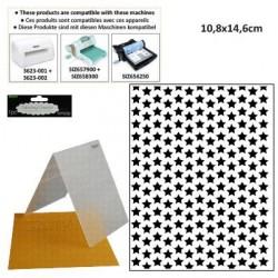 Ембосинг папка със звезди - Embossing template 10,8x14,6cm stars