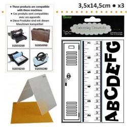 Бордюрни ембосинг папки - училище - Embossing template 3,5x14,5cm x3 school