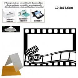 Ембосинг папка кино - Embossing template 10,8x14,6cm movie theme