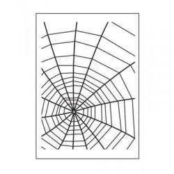 Ембосинг папка паяжина - Embossing template 10,8x14,6cm spider web