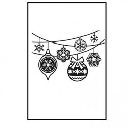 Ембосинг папка - Embossing template 10,8x14,6cm hanging ornaments
