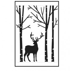Ембосинг папка елен в гора - Embossing template 10,8x14,6cm deer in forest