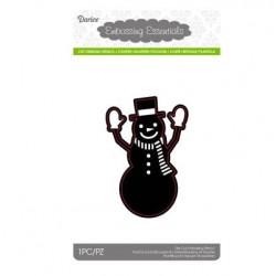 Тънка метална щанца - снежен човек със шапка - Die cut stencil snowman with hat