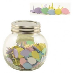 Брадс балони, пастелни цветове, микс - Splitpennen assortiment in potje ballon pastel - 10бр.