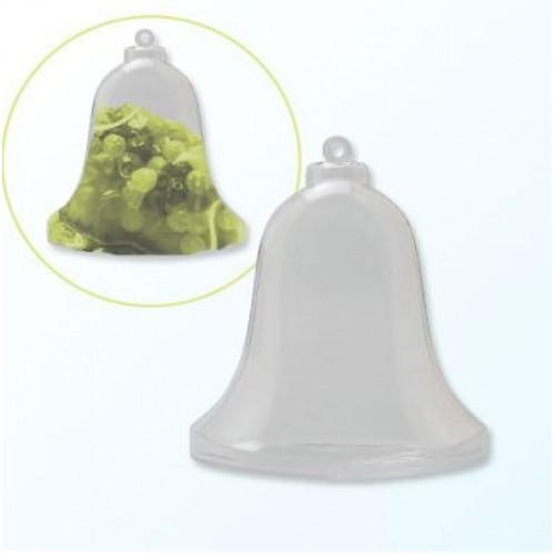 Пластмасова прозрачна фигура камбанка  - 2части - Plastic bell 2 parts 9cm x1