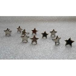 Брадс звезди, сребро - Splitpennen in potjester zilver - 10бр.