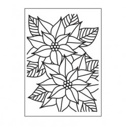 Ембосинг папка - коледна звезда - Embossing template 10,8x14,6cm mosaic poinsettia