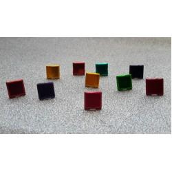 Брадс квадрат, микс 1 х 1см, дължина 1см- Splitpennen assortiment  vierkant - 10бр.