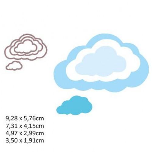 Тънка метална ценща 4бр. облаци - Shape cutting clouds