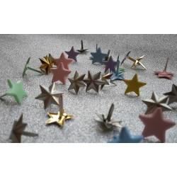 Брадс звезди, пастелни цветове, микс - Splitpennen assortiment grote ster - 10бр.