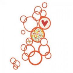 Тънки метални щанци балончета/ мехурчета - Sizzix thinlits die bright bubbles