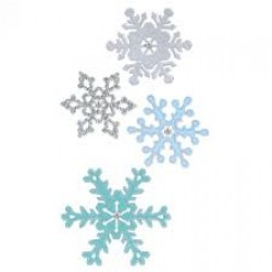 Тънки метални щанци снежинки 4бр. - Sizzix thinlits die set x4 pk snowflakes #2