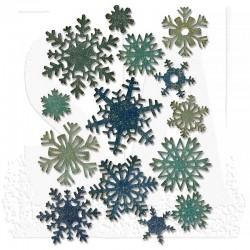 Тънки метални щанци снежинки - 14 бр. - Sizzix thinlits die set 14pk paper snowflakes