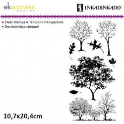 Силиконов печат дървета - Inkadinkado fall trees
