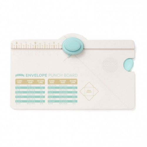 Мини дъска за пликове и уред за биговане - We R Memory Keepers mini envelope punch board
