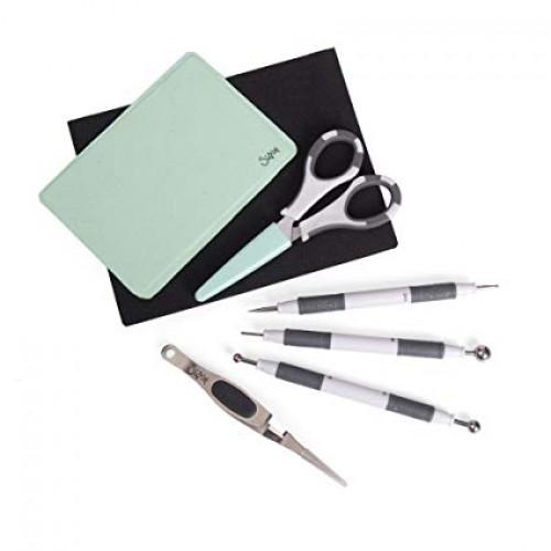 Комплект от подложка и профи инструменти за моделиране на цветя - Sizzix accessory paper sculpting kit