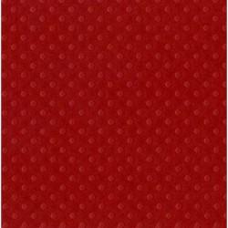 """Релефен картон на точки в наситено червено -  12"""" х 12"""" - Bazzill basics paper - Bazzill dot Swiss 12x12"""" x1 phoenix - 180гр."""