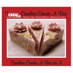 Щанца за изрязване - парче торта - Crealies Create A Box snijmal nr.5 taartpunt