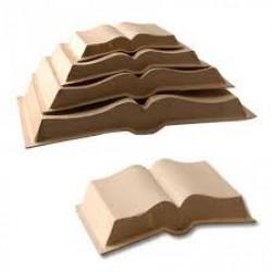 Отворена книга от папие маше за декориране - 16 х 11.5 см