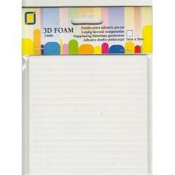 Двойно лепящи 3D квадратчета - 5мм x 5мм (3 мм) - 400бр. - 3D foam pads 5x5x3mm.