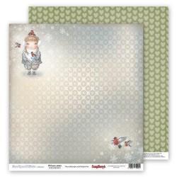 "Двустранна дизайнерска хартия - Double-sided paper 12""*12"" 190gsm, Welcome winter"