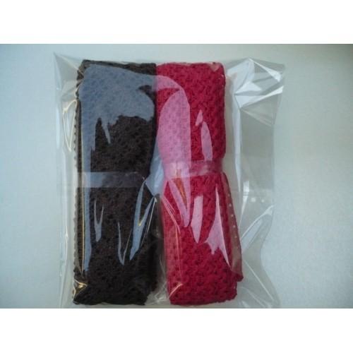 Комплект от 2 бр. памучни дантели - широчина около 3,5-4,5 см, дължина - 3-4метра